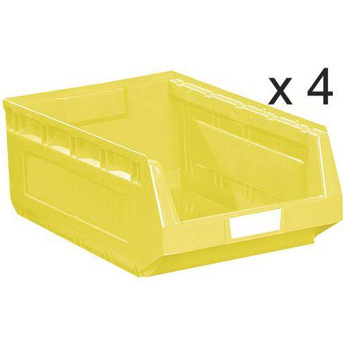 Conjunto de 4 caixas de bico Kangourou - Comprimento de 580 mm - 52 L - Manutan