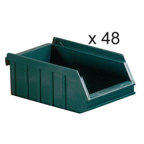Caixas de bico empilháveis - comprimento de 175 mm - 1 L - conjunto de 48