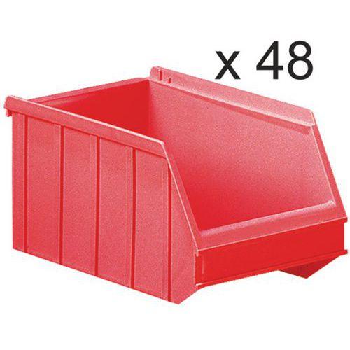 Caixas de bico empilháveis - comprimento de 250 mm - 4 L - conjunto de 48