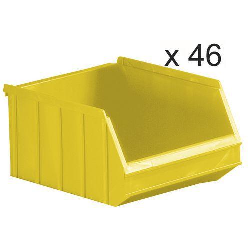 Caixas de bico empilháveis - comprimento de 250 mm - 6 L - conjunto de 46