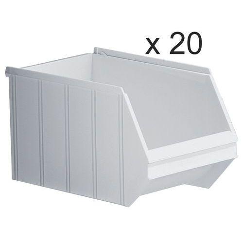 Caixas de bico empilháveis - comprimento de 350 mm - 14 L - conjunto de 20