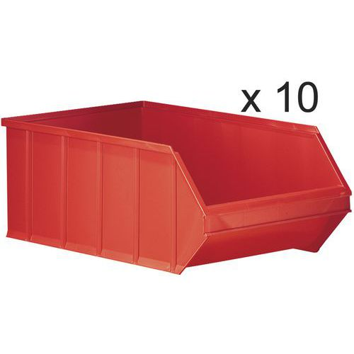 Caixas de bico empilháveis - comprimento de 500 mm - 30 L - conjunto de 10