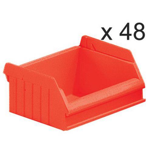Caixas de bico empilháveis - comprimento de 90 mm - 0,40 L - conjunto de 48