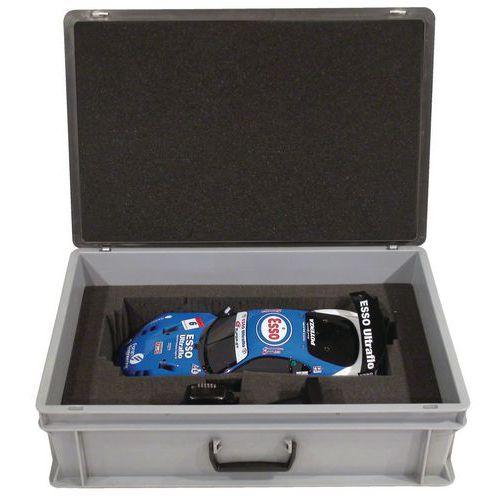 Caixa-maleta Rako com tampa - Interior em espuma - Comprimento de 600 mm
