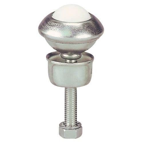 Esfera de movimentação nylon - Fixação através de haste roscada com base