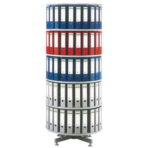 Coluna de pastas de arquivo rotativa - Diâmetro 80 cm