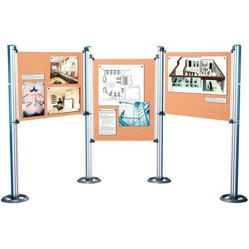 Painel de exposição modular para sistema de apresentação – Nobo