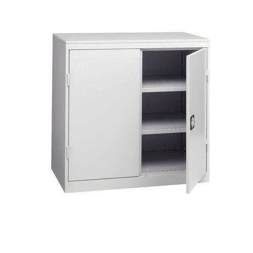 Armário de oficina com portas rebatíveis