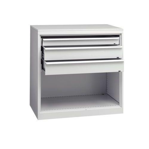 Armário de oficina com gavetas