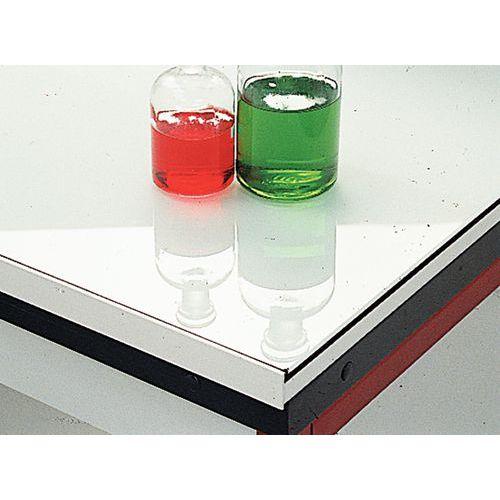 Móvel de canto modular para laboratório - Vidro esmaltado - Sem estrutura traseira