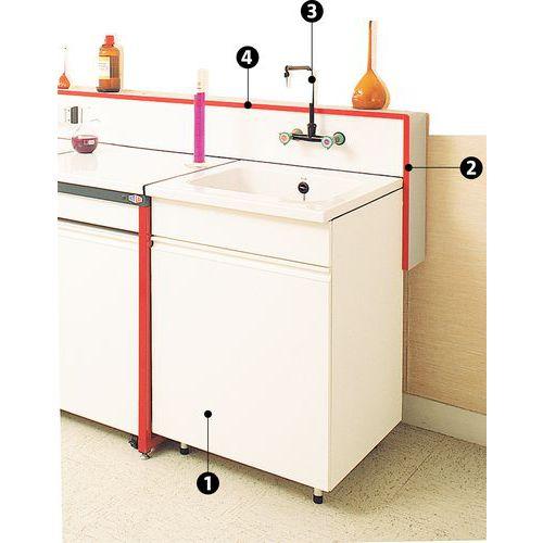 Lavatório modular para bancada de laboratório
