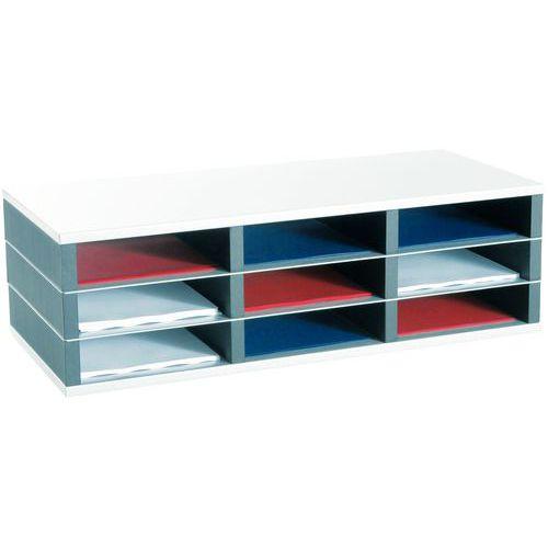 Organizador com compartimentos moduláveis