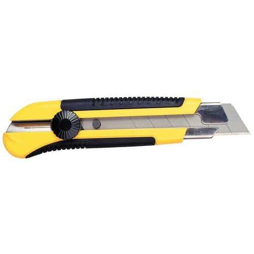 Faca de segurança com lâmina segmentada Pro - Lâmina largura 25 mm