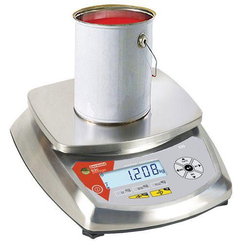 Balança compacta inox - Capacidade 6 a 30 kg