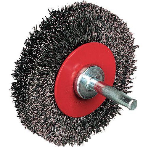 Escova de fio de aço ondulado - Circular
