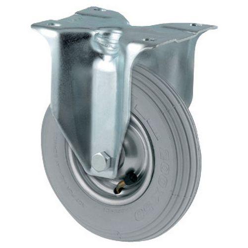 Rodízio fixo com piso pneumático - Capacidade 75 a 200 kg