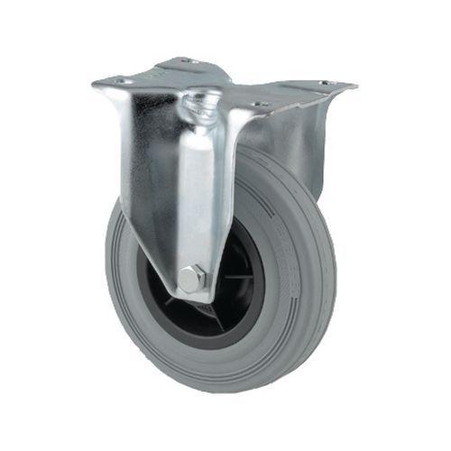 Rodízio fixo com placa - Capacidade de 70 a 205kg - Cinzento