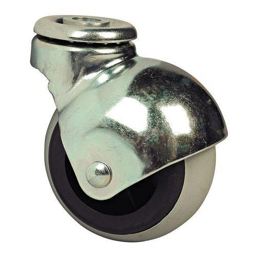 Rodízio em esfera - Capacidade 20 a 25 kg - Fixação com olhal