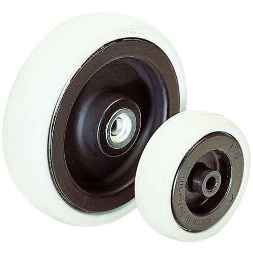 Roda - Capacidade de 40 a 100 kg - Rolamento de esferas