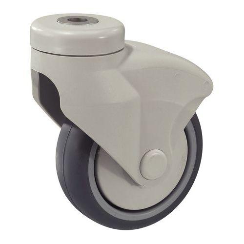 Rodízio fixação com olhal armação nylon - Capacidade 80 a 100 kg