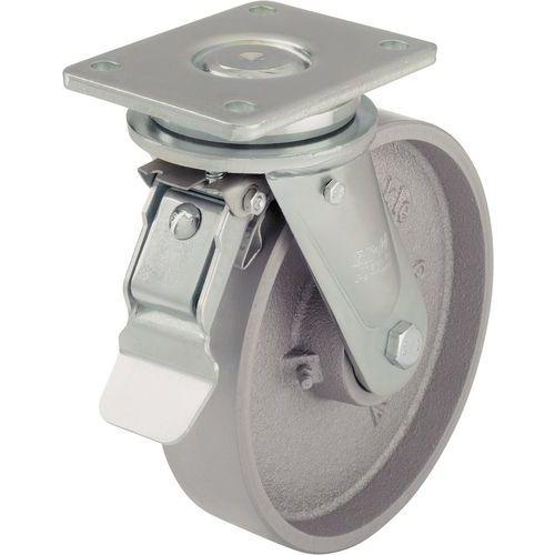 Rodízio em ferro fundido - Capacidade de 750 a 1200 kg - Rodízio giratório com travão