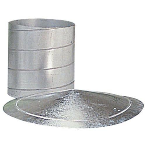 Braçadeira de fecho de um fio para condutas de ventilação - Ø 80 a 125 mm