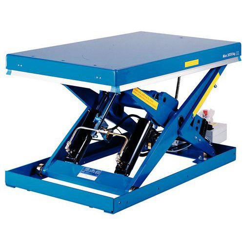 Mesa elevatória fixa BX-10 ergonómica – Capacidade de carga de 1000kg