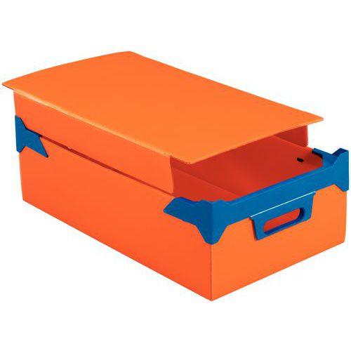 Tampa para caixa empilhável em Propylex