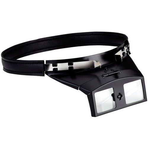 Lupa binocular com faixa para a cabeça e suporte ótico rebatível - Ampliação 3x