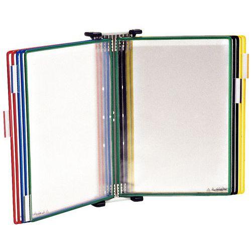 Porta documentos de parede com pivot, 5bolsas para formato A4 – Tarifold