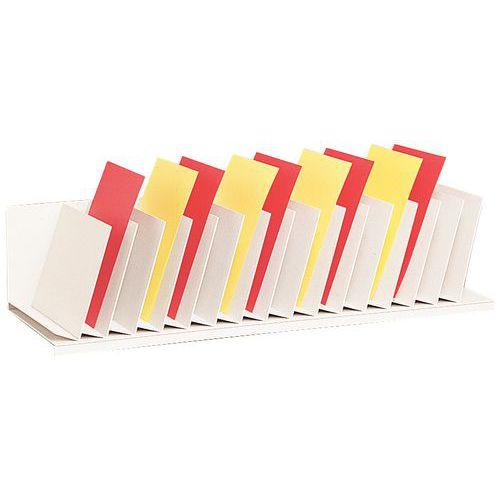 Classificador vertical com divisórias inclinadas para armários – Cinza