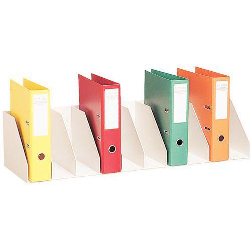 Classificador vertical com divisórias fixas para armários – Cinza - Paperflow