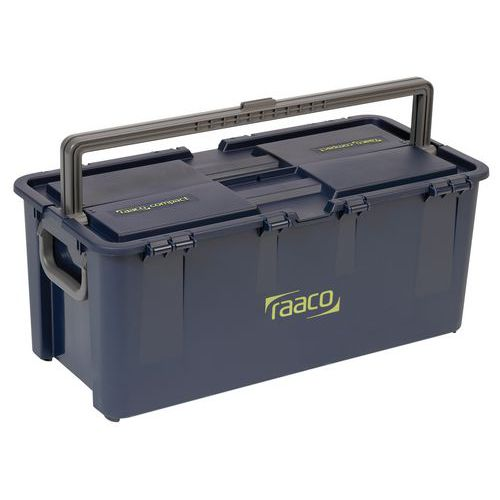 Caixa de ferramentas compacta - Com pegas central e lateral