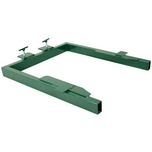 Adaptador para equipamento de elevação e de basculamento