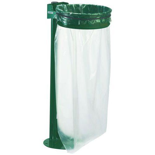 Suporte para saco de lixo com poste com base - 110 l