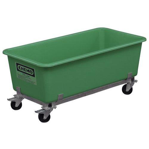 Caixa encaixável com rodízios - 300 e 550 L