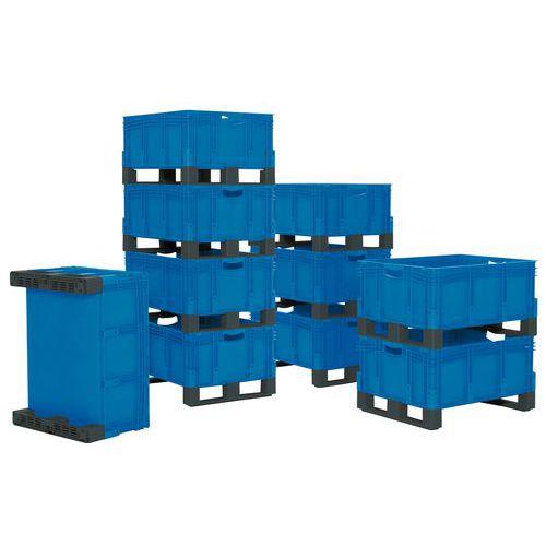 Caixa empilhável XL com suportes – 800mm de comprimento – 121 a 206L – Bito