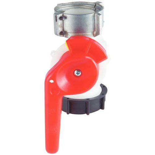 Válvula grande caudal para caixa sobre rodas