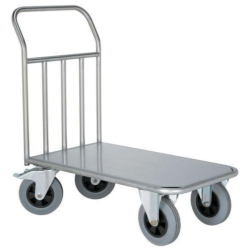Carro inox - 1 espaldar fixo - Capacidade 500 kg