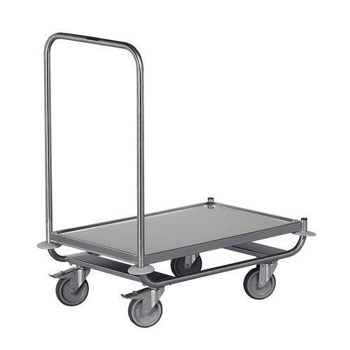 Carro inox - 1 espaldar fixo - Capacidade 120 kg