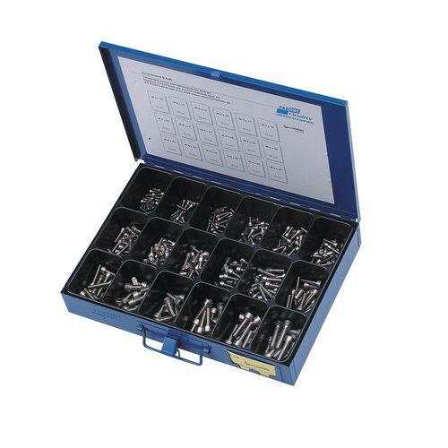 Caixa de parafusos cilíndricos de 6 faces ocas - 355 peças