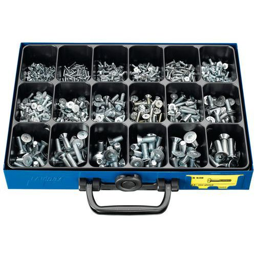 Caixa de parafusos sextavados ocos de cabeça fresada - 1147 peças