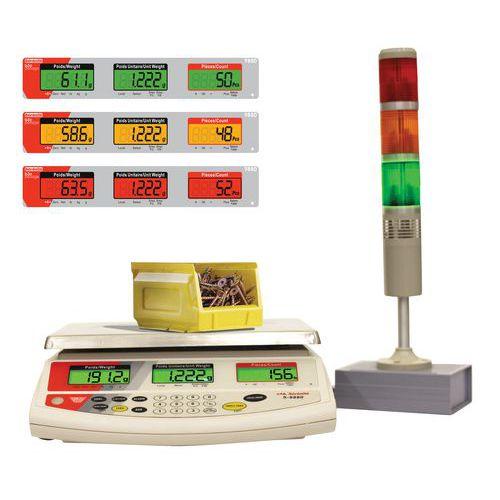Balança de contagem com coluna luminosa 9880 - Capacidade de 3 a 30 kg - B3C