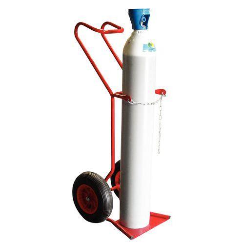 Transportador porta-garrafas em aço – 250kg – Roda pneumática