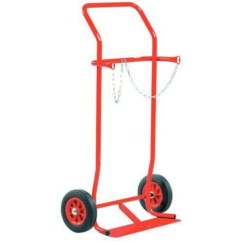 Transportador porta-garrafas em aço – 200kg – Roda em borracha