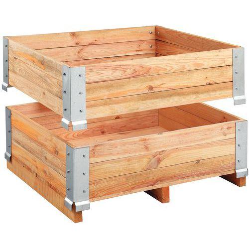 Extensão de palete em madeira - fixa - 1200 x 800 mm