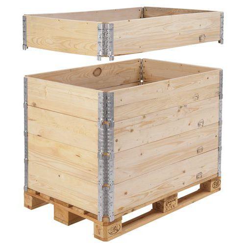 Extensão de palete em madeira ISPM 15 – Dobrável – 800x600mm – Manutan