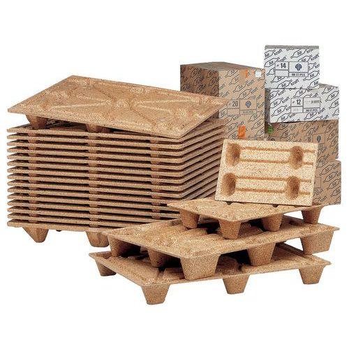 Palete em fibras de madeira - Largura 800 mm