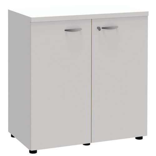 Armário com portas rebatíveis Open - Branco/branco