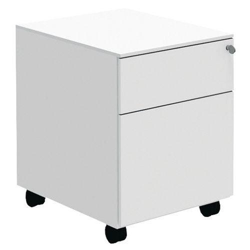 Bloco de gavetas móvel Open - Branco